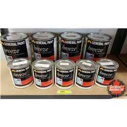 New/Old Stock Paint : General Paint Breeze - Acrylic Latex - Variety Bases (4 Gallons & 5 Quarts)