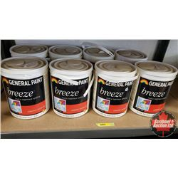 New/Old Stock Paint : General Paint Breeze - Acrylic Latex - Variety Bases (8 Gallons)