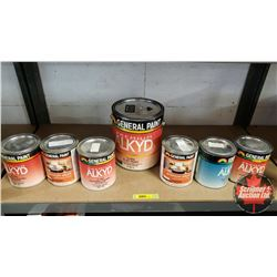 New/Old Stock Paint : General Paint - Premium Alkyd - Variety  (6 Quarts & 1 Gallon)