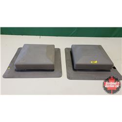 New/Old Stock : 2 Roof Vents (Plastic) (322 sq cm)
