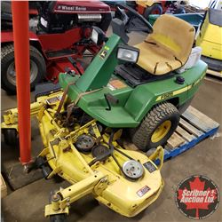 """John Deere F525 Ride On Mower (48"""" Mower) with JD 38"""" Snow Thrower Attachment (NOTE: Missing Carbure"""