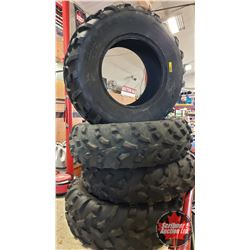 Quad Tires (4) :  2 @ 25 x 10.00-12 and 2 @ 25 x 8.00-12