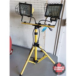 Dual Halogen Work Lights with Stand