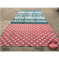 Camping Mats (2) : Red (6'x9') Green (12'x9')