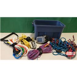 Tote Lot - Boat Stuff :  Water Skiing Rope, Fish Finder, Boat Muffs & Grapple Hook