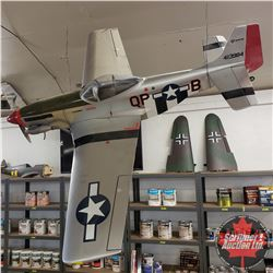 RC Airplane : Hangar 9 P-51 Mustang : (Safe learn to fly system, Fully Built, hasn't flown) (Spare S