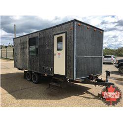 Custom Homebuilt Cargo / Construction Trailer 20' Long - Tandem Axle - Ramp Door . . .