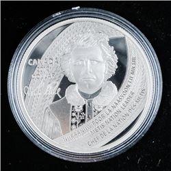 2019 .9999 Fine Silver Proof Silver Dollar  'Father of Manitoba'