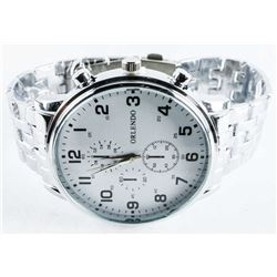 Unisex Quartz Watch Panther Band, Large Dial
