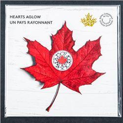 .9999 Fine Silver $5.00 Coin Hearts a Glow -  Folio. Glows in the Dark