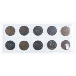 GUERNESEY Group (10) Coins 1864-1935