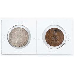CANADA 1953 Coronation Silver Dollar, plus  Bronze Medal