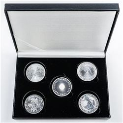 Bullion Collection - 5x.999 Fine Silver 1oz  Coins