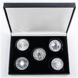 Bullion Collection - 5x.999 Fine Silver 1 and  2oz Coins - 6oz ASW