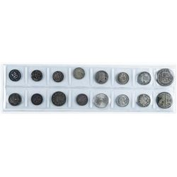 Group (16) Silver World Coins