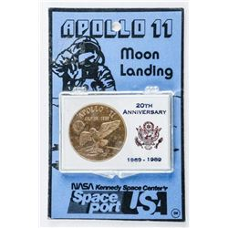 Apollo II, Moon Landing 20th Anniversary  1969-1989 Cased Medal