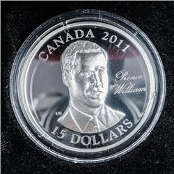 925 Sterling Silver $15.00 Coin, Prince  William of Wales