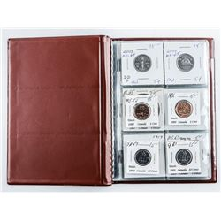 CAND: 12 Coin Starter Collection Stock book  with 'Silver'