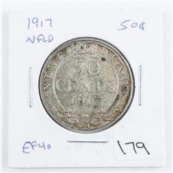 1917 NFLD 50 Cents. EF40