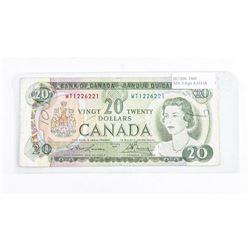 Bank of Canada 1969 - 3 Digit Radar 'GEM'  Note 20.00. BC-50b