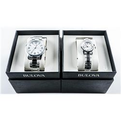 BULOVA Set His and Hers Quartz Watches (MAY  NEED BATTERY). Brand New.