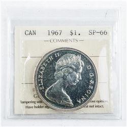 1967 Canada Silver Dollar SP66. ICCS.