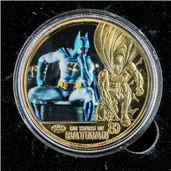 24kt Gold Plate Batman Medallion.