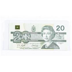 Bank of Canada 1991 - 4 Digit Radar 'GEM'  Note 20.00