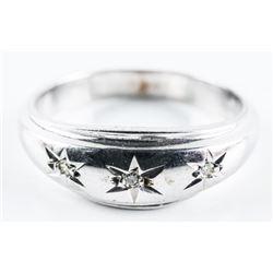 Estate 10kt Gold Diamond Band Ring. Size 9.5