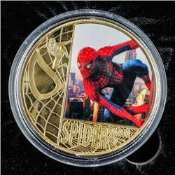 Gold Plated Spiderman Collector Medallion