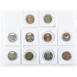 Group of (10) Canada Coins Special Issues etc