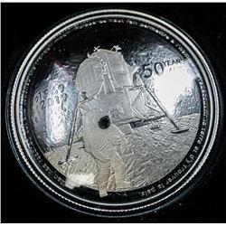 RCM .9999 Fine Silver $20.00 Coin 50th  Anniversary of Apollo II Moon Landing Mintage  5500
