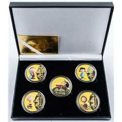 Group of (4) SNOOPY Collector Medallions