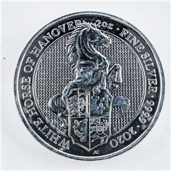 Royal Mint - Queen's Beast .999 Fine Silver 5  Pounds Coin - Horse.