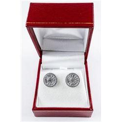 925 Sterling Silver Earrings Baguette  Swarovski Elements