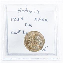 Estonia 1924 Mark (BU) KM#1a