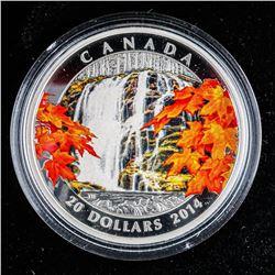 .9999 Fine Silver $20.00 Coin 'Autumn Falls'