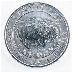 .999 Fine Silver $8.00 Coin 1 1/4oz ASW 'BISON'