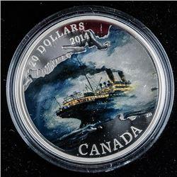 .9999 Fine Silver $20.00 Coin 'RMS Empress of Ireland'