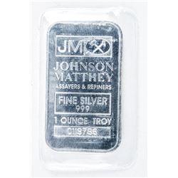 JM .999 Fine Silver Bar 1oz ASW No Longer Produced