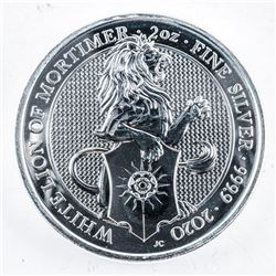 Royal Mint - Queen's Beast .999 Fine Silver 5 Pounds Coin - Lion.