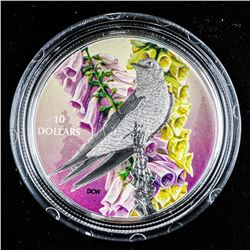 .9999 Fine Silver $10.00 Coin 'Purple Martin'