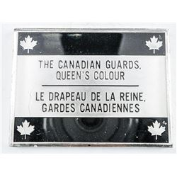 925 Solid Sterling Silver 'The Canadian Guards Flag - 56.29 grams