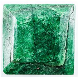 Loose Gemstone (16.28ct) Square Cut Emerald. TRRV: $4880.00