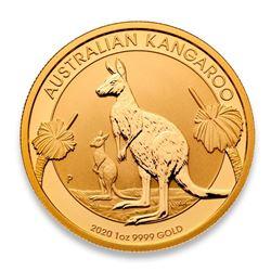 $100 .999 Fine Gold Kangaroo Round - Australian Mint - Collector Bullion.
