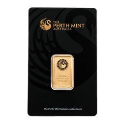 .9999 Fine Gold 10 Gram Bar. Australian Mint. Collector Bullion.