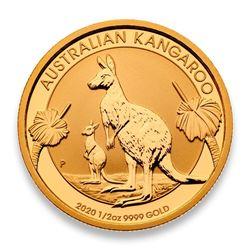 $50 .999 Fine Gold Kangaroo Round - Australian Mint - Collector Bullion.
