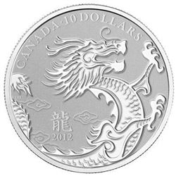 Sold Out - $10 Dragon .9999 Fine Silver Coin. Royal Canadian Mint.