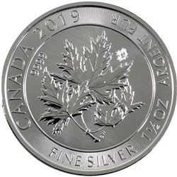 Scarce - Super Maple of Canada .9999 Fine Silver 1.5oz Coin. Sold Out. Royal Canadian Mint.