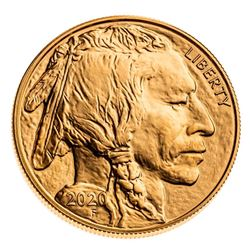 USA .999 Fine Gold $50 1oz Buffalo Round.